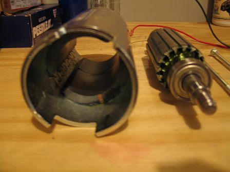 Magnets inside a Permanent Magnet Motor